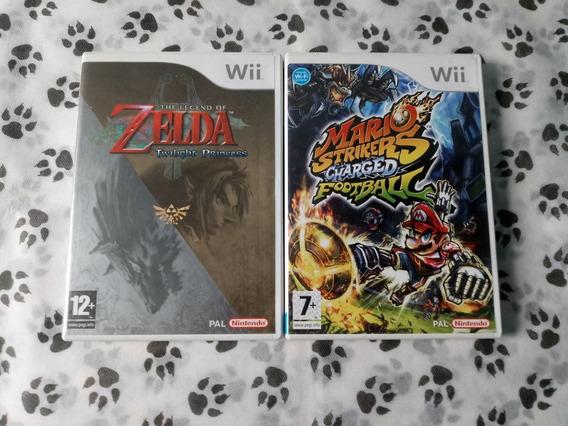 Zelda Twilight Princess + Mario Strikers Charged ( Europeus)