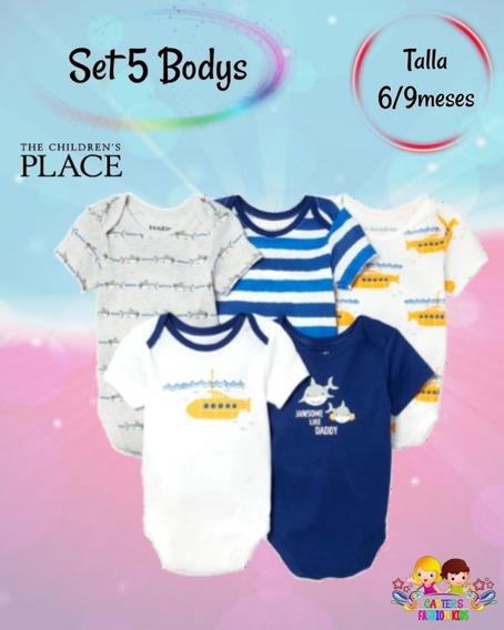 Set De 5 Bodys Para Bebé Varón