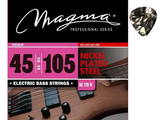 Encordado Bajo Nickel 045 Magma Be170n + Púa De Regalo!