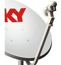 2 Antena Ku 60cm Sky 2 Lnb Simples 2 Kit Cabo Rg59 De 17 Mts