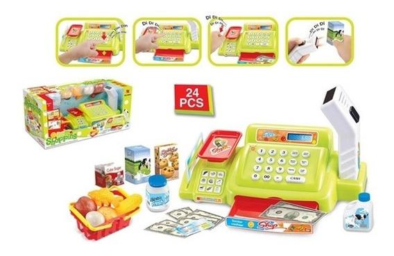 Caixa Registradora Infantil Com Mini Feira E Mercado 26 Pçs