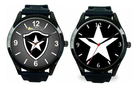 Kit 2 Relógios Pulso Botafogo Rj Futebol Barato Esportivo
