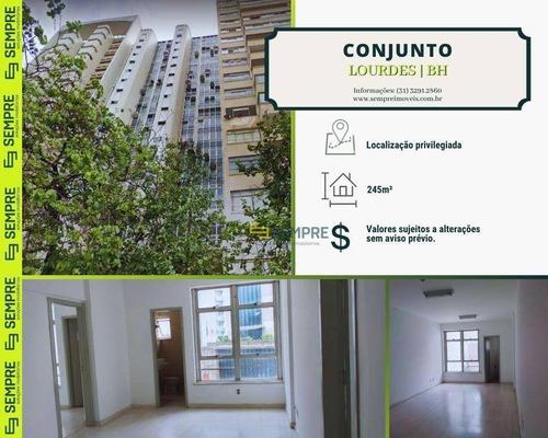 Imagem 1 de 18 de Conjunto Comercial De Salas À Venda, 245 M² - Lourdes - Belo Horizonte/mg - Cj0014