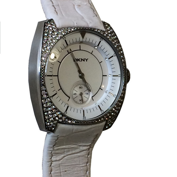 Reloj Mujer Blanco Plateado Pedreria