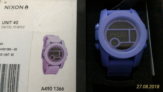 Nixon Unit 40 Pastel/purple Novo Na Caixa