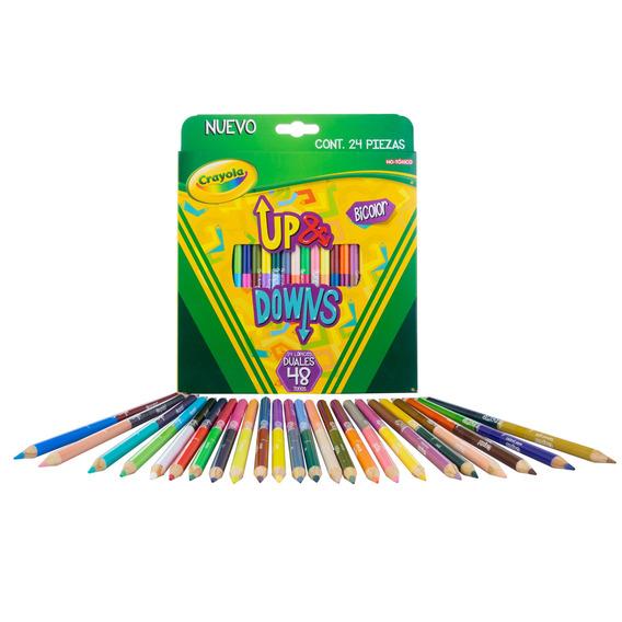 24 Lápices De Color Duales Up & Downs Crayola