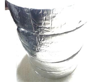 Cinta Aislante 2 Mm Espuma Pe + Aluminio Metal P/exterior