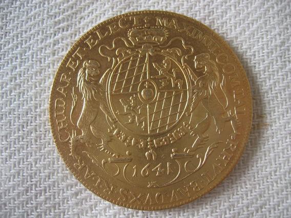 Moeda De Ouro 1641 24k Thaler Aleman