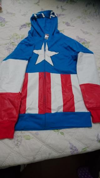 Blusa Moletom Capitão América - Com Capuz - Tamanho M