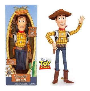 Figura Vaquero Woody Con Sonido + 30 Frases Toy Story Disney