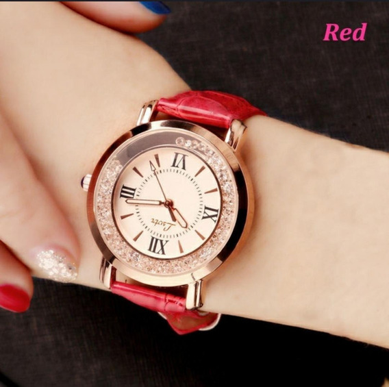 Relógio Feminino - Couro/vermelho