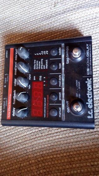 Pedal De Efeitos Tc Electronic Nd-1 Nova Delay Com Fonte.