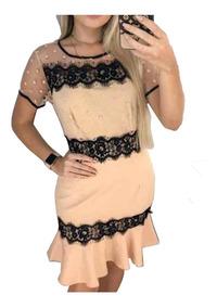 Vestidos Femininos Tule Renda Guipir Baratos Evangélicos 704