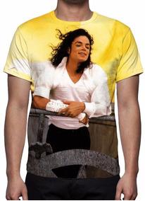 Camisa, Camiseta Michael Jackson Mod 08 - Estampa Total