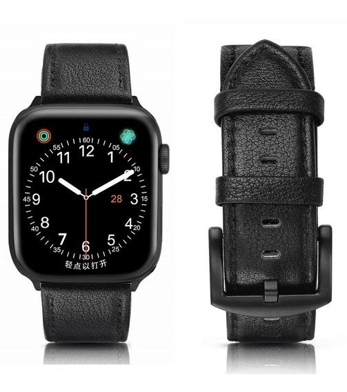 Pulseira Apple Watch Couro Legítimo Rústica 40mm + Case