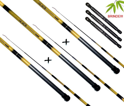 Imagem 1 de 6 de Kit 3 Varas Telescópica Marine Sports Bamboo (1,80 Metros)