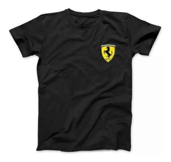 Remera Ferrari- Logo Bordado