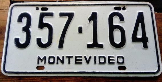 Placa Automovil Coleccion Uruguay Montevideo Sudamerica Rara