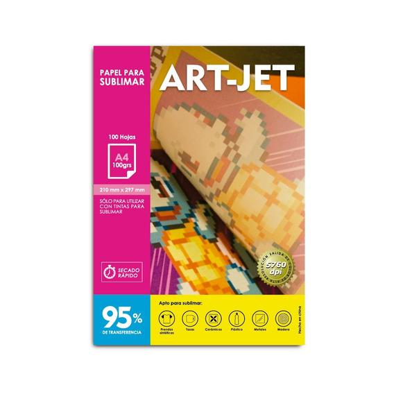 Papel Sublimación Específico (%95 Trans) A4 Art-jet® 100h