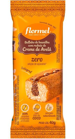 Bolinho De Baunilha Integral Recheado Zero Açúcar Flormel