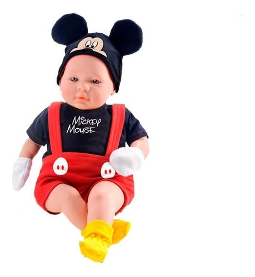 Boneco Mickey Bebê Recém Nascido Classic Dolls Roma 5161