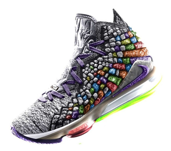 Tênis Lebron James 17 Xvll Fruity Pebbles Importado Novo