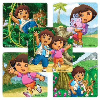Dora La Exploradora - Diego Stickers - 100 Por Paquete