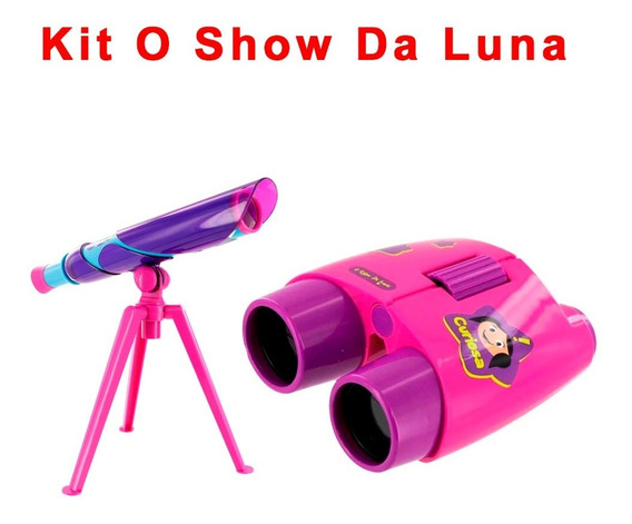 Kit Binóculos + Telescópio O Show Da Luna Multikids