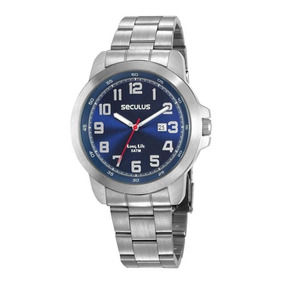 Relógio Masculino Seculus Executivo 28939g0svna1 Prata C/ Nf