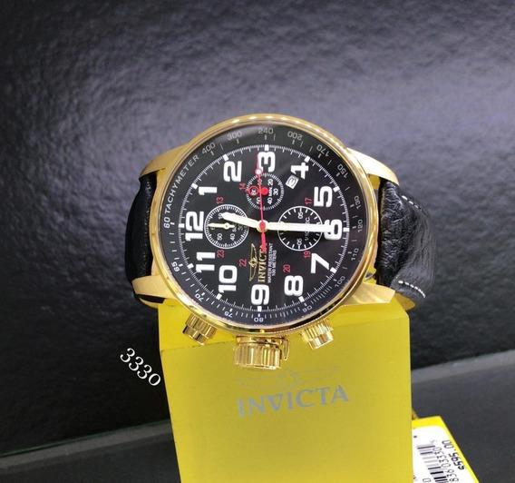 Relógio Invicta 3330 I-force Banhado A Ouro 18k Original