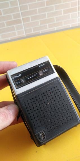 Radio De Mão 077 Philips Antigo , Leia A Descrição