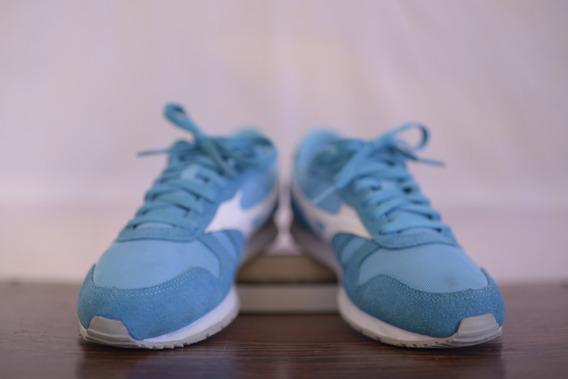 Tênis De Camurça Azul Celeste E Branco 38 - Mizuno