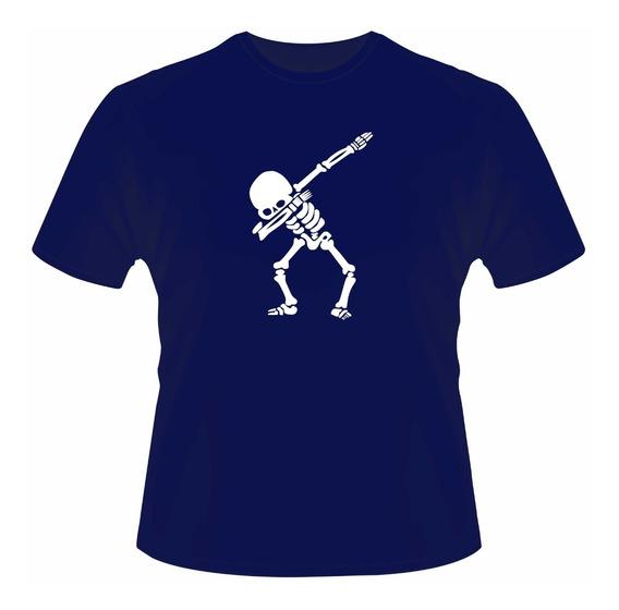 Playera Con Esqueleto Impreso Super Cool