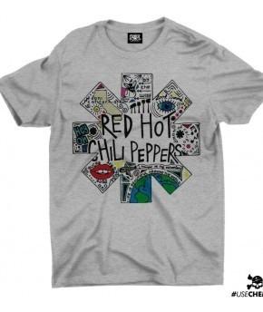 Camiseta Red Hot Chili Peppers Branca Brasão Chemical Cc1682