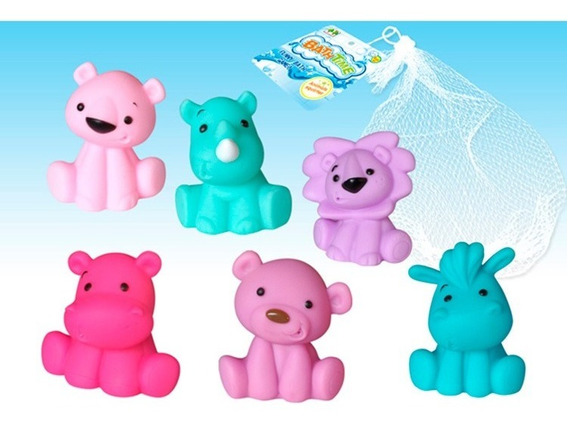 Juegos Para El Baño Animalitos En Red 6 Pcs 1466425 E.normal