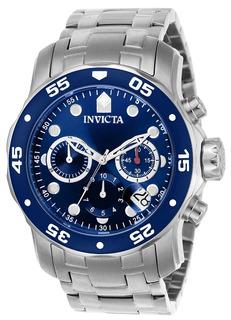 Reloj Hombre Invicta Pro Diver Crono Plateado Dial Azul 0070