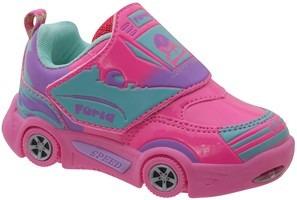 Tenis Infantil Feminino Pink Com Luzinha Botinho Furia