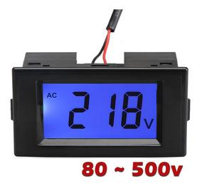 Voltímetro Digital Lcd 80-500v Ac Multímetro 110v 220v 300v