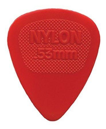 Imagen 1 de 1 de Pua De Guitarra Dunlop Nylon Midi Standard .53mm Red - Paqu