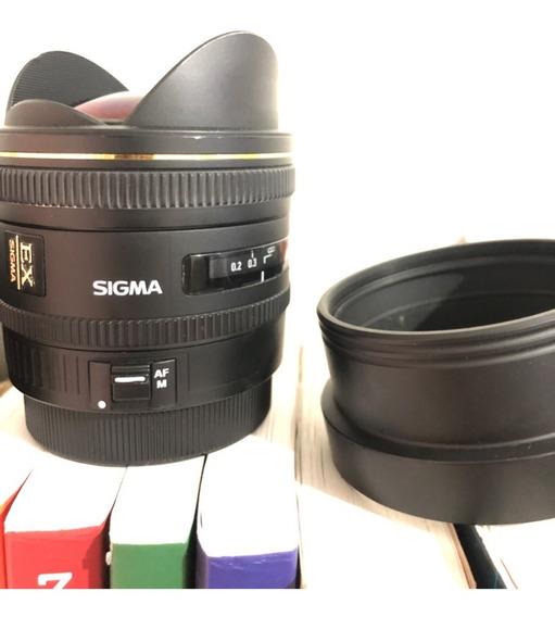 Sigma 10mm 2.8 Fisheye Olho De Peixe Hsm