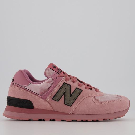 Tênis New Balance 574 Rosa