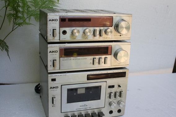 Micro System Aiko 3000 Com Caixa Aiwa Funcionando