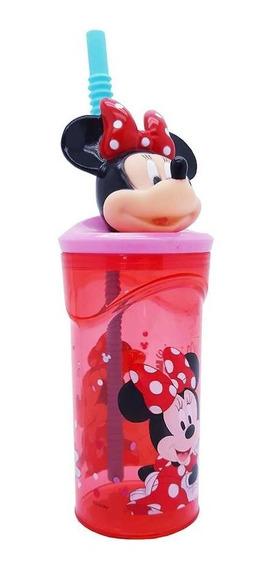 Vaso Minnie Mouse Con Figura En 3d Licencia Casa Valente