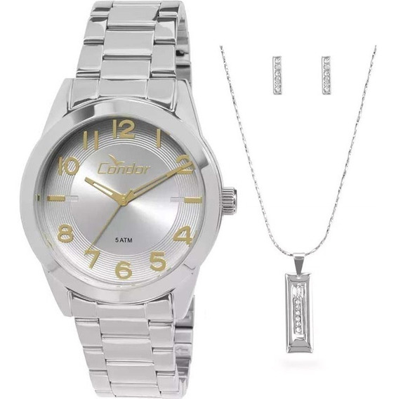 Kit Relógio Condor Feminino Co2035kqm/k3k C/ Garantia E Nf