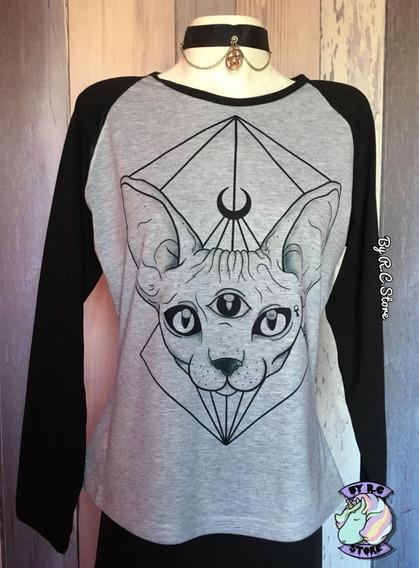 Camiseta Sphinx Cat Gatito By R.c Super Original