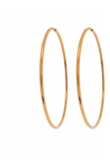 Brinco Argola De Ouro 18k 750 Feminino- Certificado