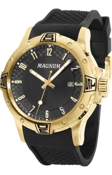 Relógio Magnum Masculino Ma34414u Preto/dourado