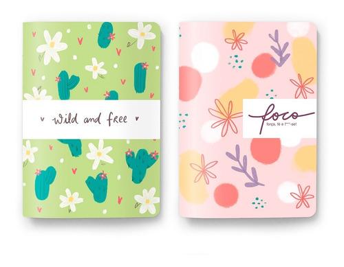 Pack 2 Cadernos Bullet Journal, Sketchbook Ou Pautado - A5
