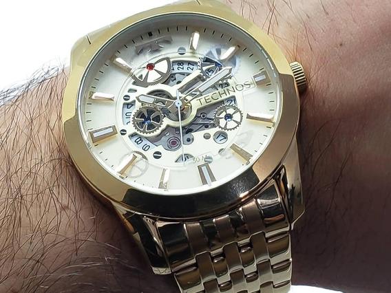 Relógio Technos 8205nq/4x Automático Esqueleto Original