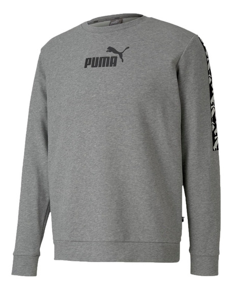Puma Buzo Training Hombre Amplified Crew Gris
